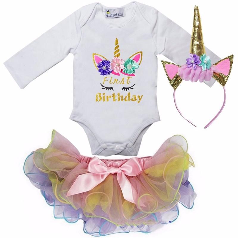 Unicorn verjaardagset First Birthday