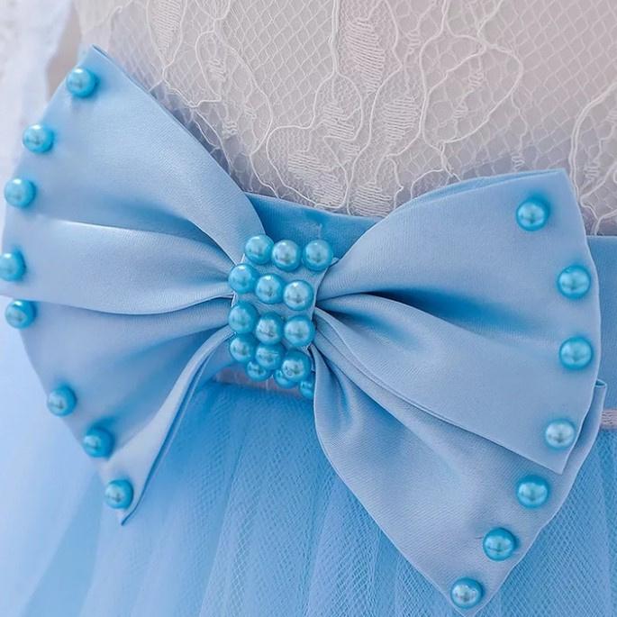 Luxe jurk kant BLAUW