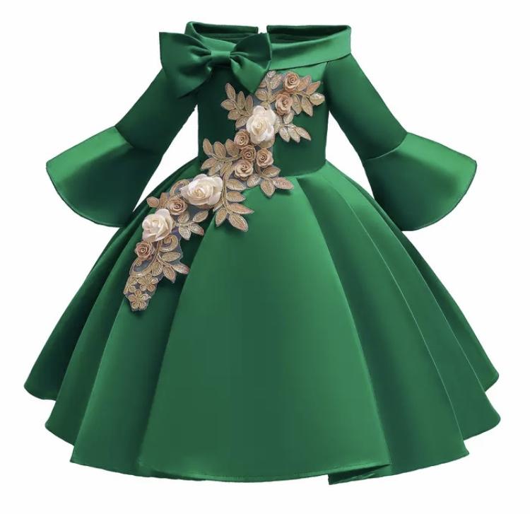Galajurk groen glanzende jurk