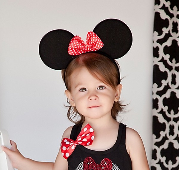 Minnie Mouse rood diadeem luxe