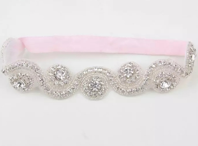 Luxe Crystal haarband roze