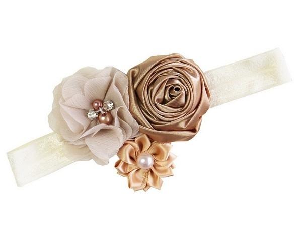 Setje champagne/ivoor satijnen rozen longsleeve
