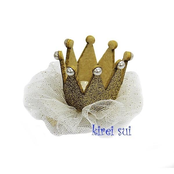 Haarclip kroon goud