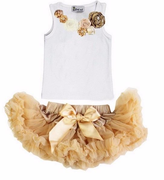Pettiskirt champagne + top
