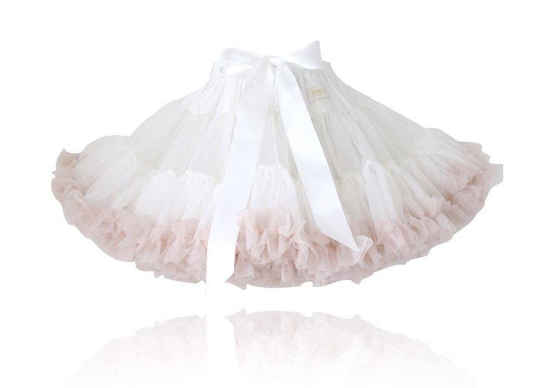 LUXE Pettiskirt Off-white/blosjes roze