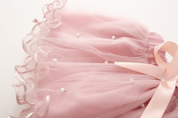 Tutu Dusty Pink met parels