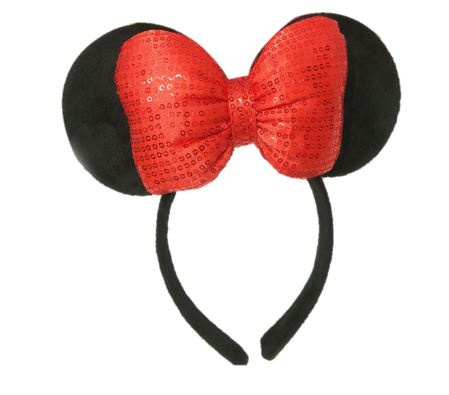 Minnie Mouse glitter diadeem rood 3D luxe