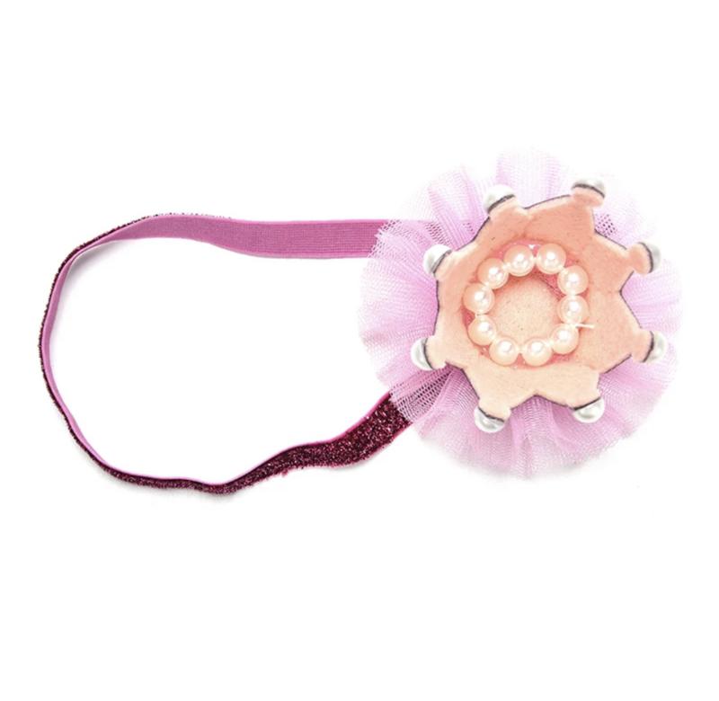 Haarclip kroon roze