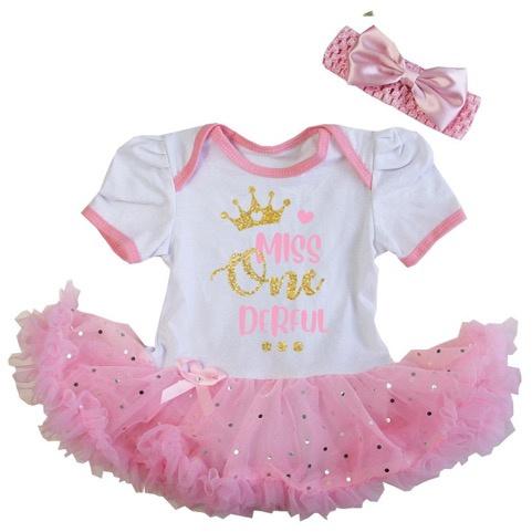Verjaardag Miss 'one'derful roze