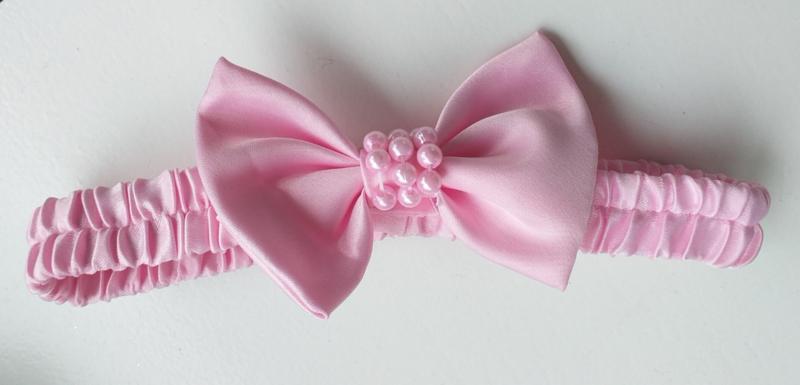 Feestjurk met kant, roze