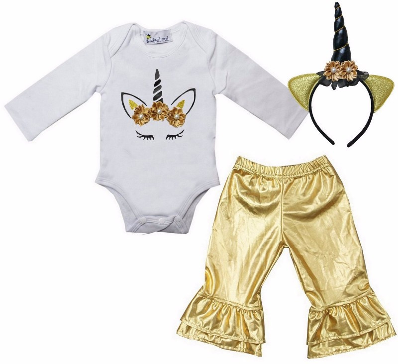 Unicorn set legging goud