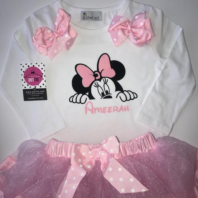 Minnie Mouse set + naam