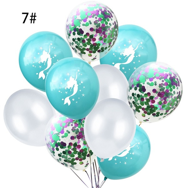 Zeemeermin Ballonnen nr. 7 - 10 stuks