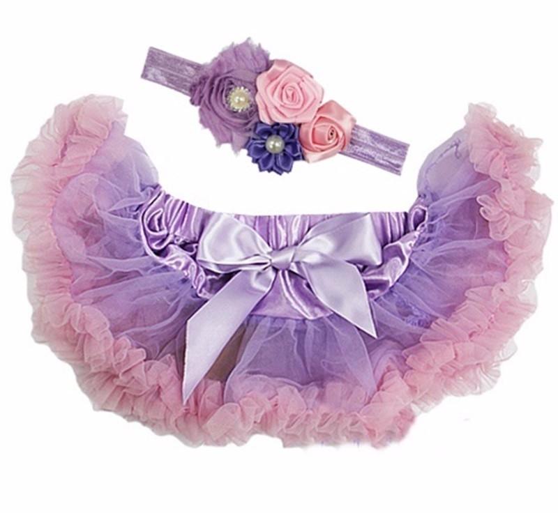 Pettiskirt Lila/roze + haarband