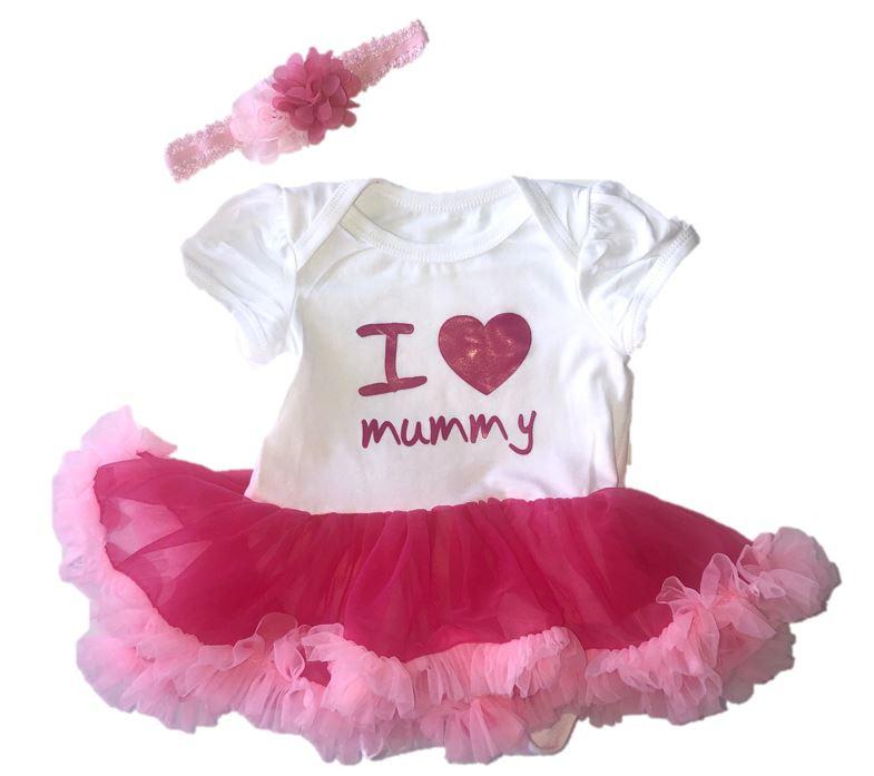 Jurk newborn I love Mummy