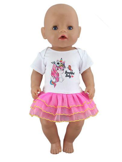 Unicorn beautiful baby poppen jurkje