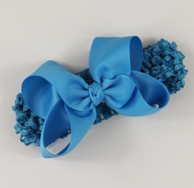 Haarband Aquablauwe strik