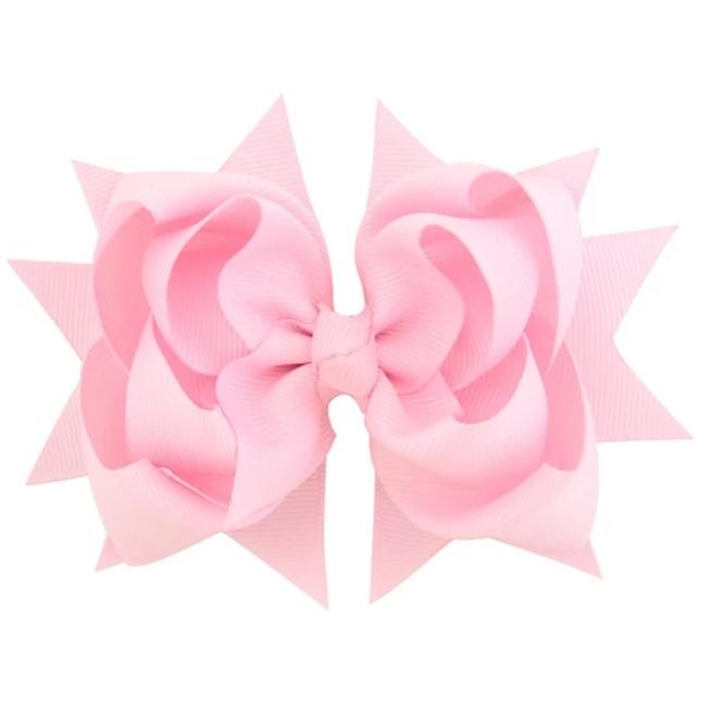 Haarclip strik roze