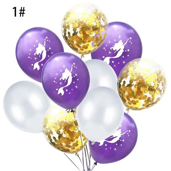 Zeemeermin Ballonnen nr. 1 - 10 stuks