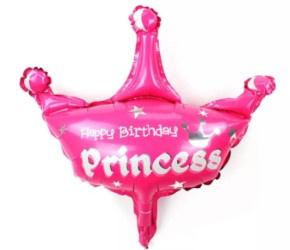 Folieballon Roze kroon XXL