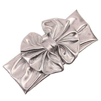 Haarband zilver grote strik