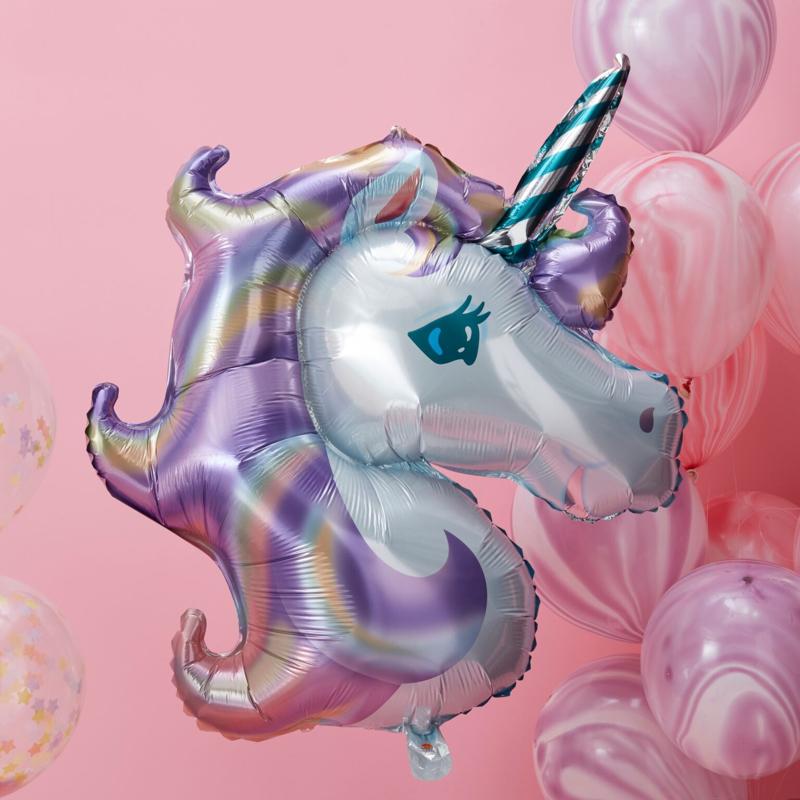 Unicorn Folie Ballon - pastel XXL
