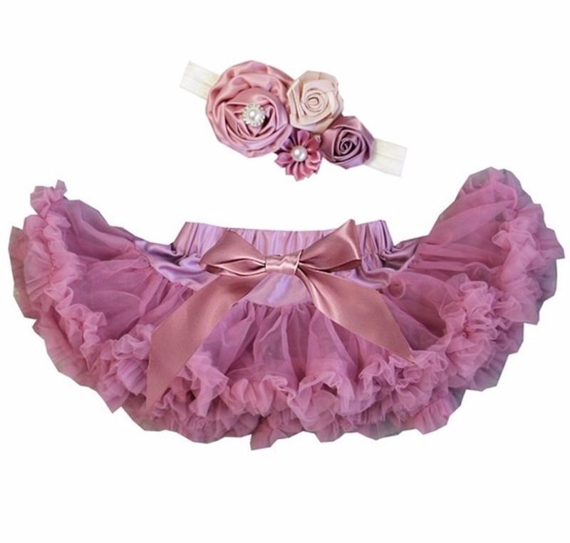 Pettiskirt vintage paars + haarband