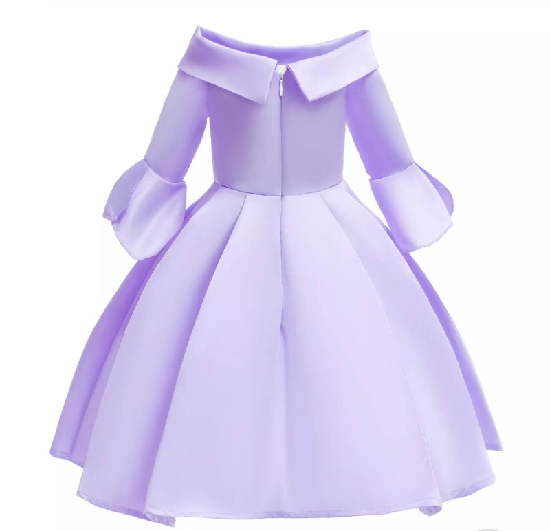 Galajurk violet glanzende jurk