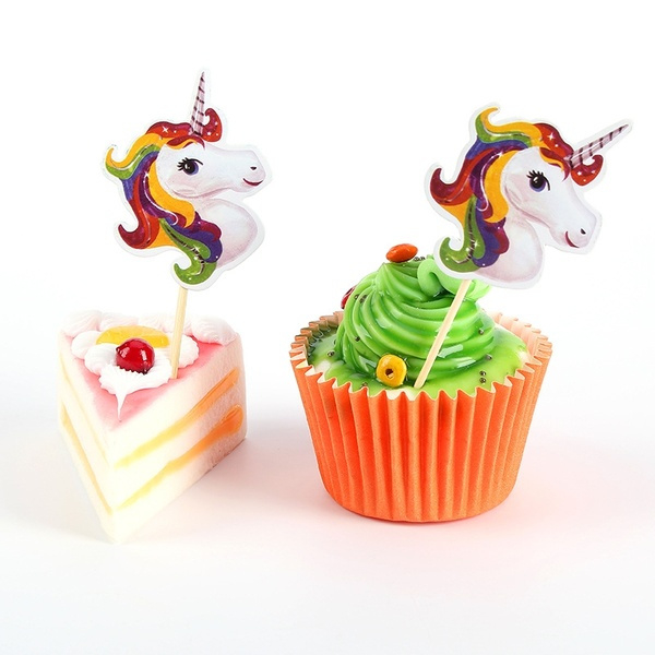 Unicorn cocktailprikkers - 6 stuks