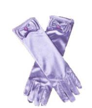 Gala handschoenen lang violet
