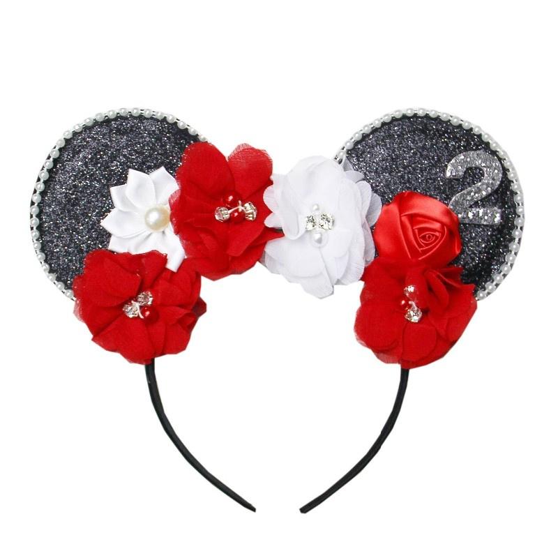 Diadeem Minnie Mouse bloemen zwart