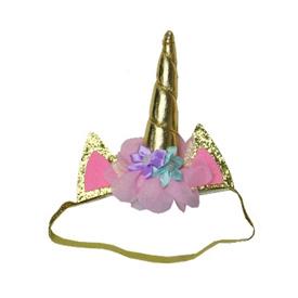 Unicorn Haarband Gouden Hoorn