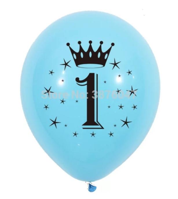 Ballon 1 jaar blauw (4 stuks)