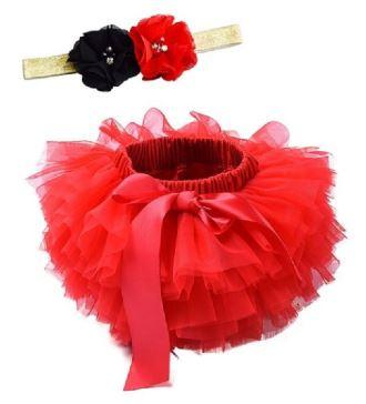 Tutu rood + luxe haarband