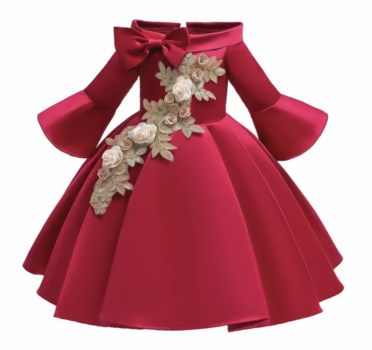 Galajurk robijnrood glanzende jurk