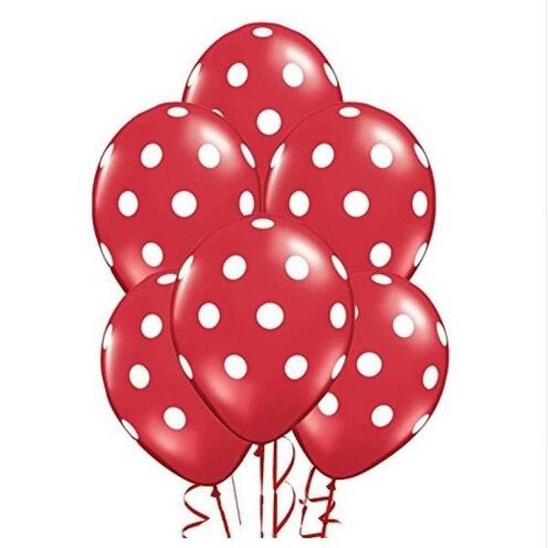 Minnie Mouse Balonnen ROOD - 4 stuks