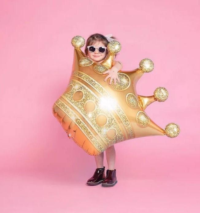 Folieballon Gouden kroon XXL