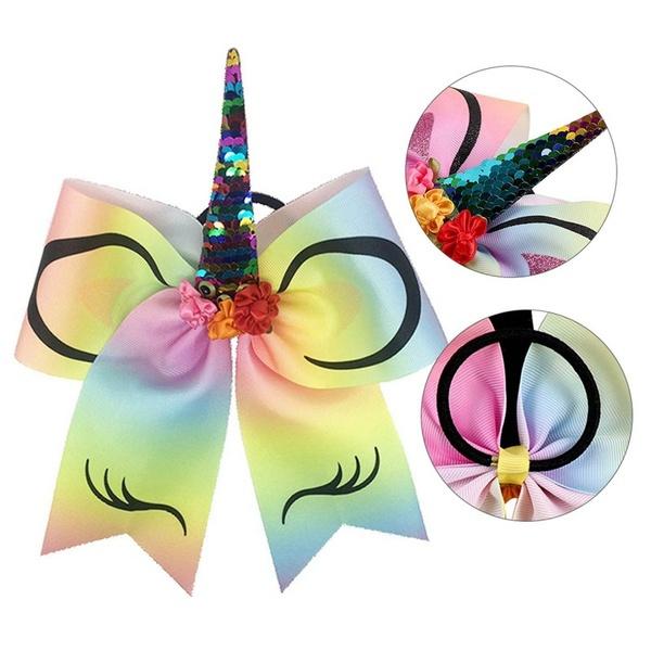 Haarelastiek unicorn regenboog