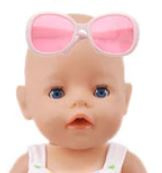 Poppen zonnebril wit