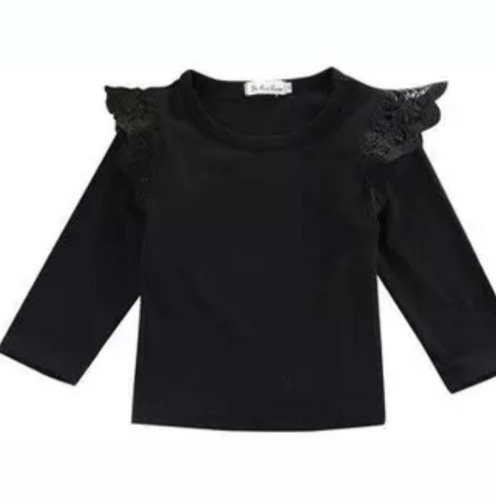 T-shirt met lange mouw zwart