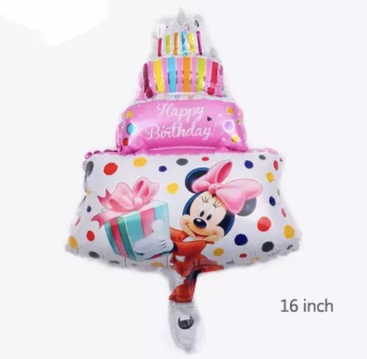 Minnie Mouse taart ballon