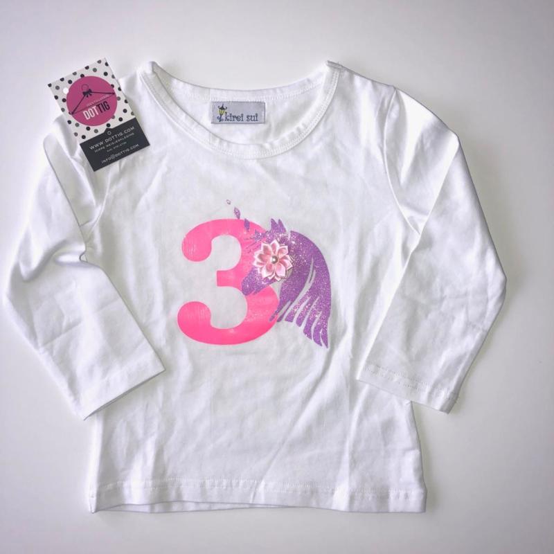 Unicorn shirt lange mouw 3 jaar