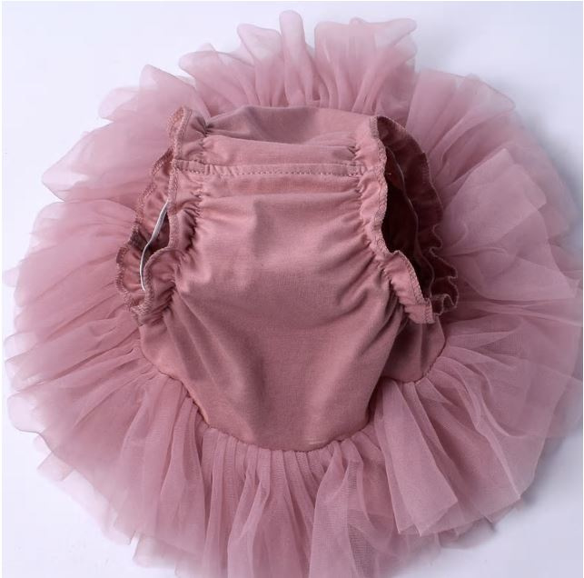 Luxe tutu Dusty Pink + haarband