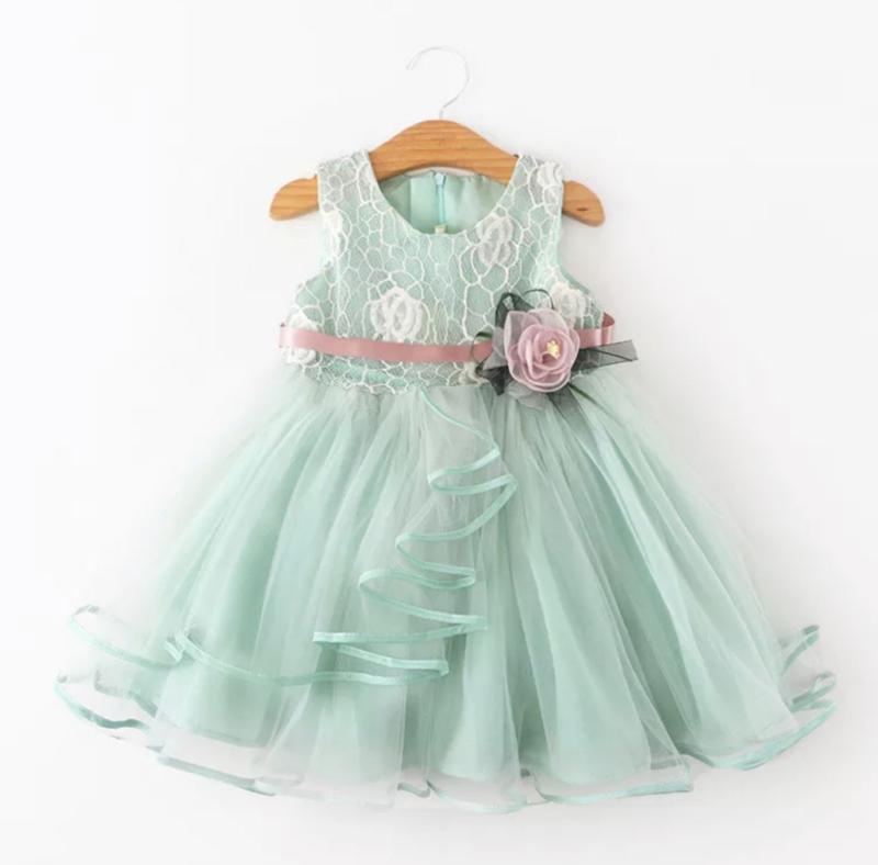 Romantische jurk MINT (80-86 en 98-104)