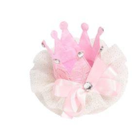Luxe haarclip roze met kant