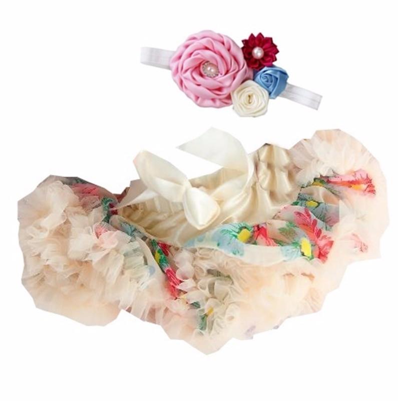 Pettiskirt Romantische bloemen + haarband
