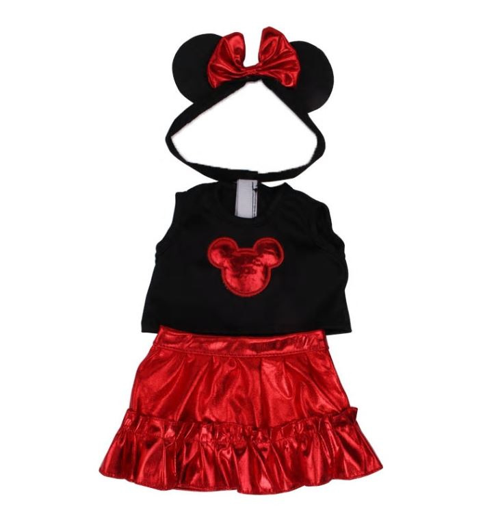 Minnie mouse setje rood (3-delig)