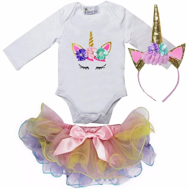 Unicorn set ogen pastel