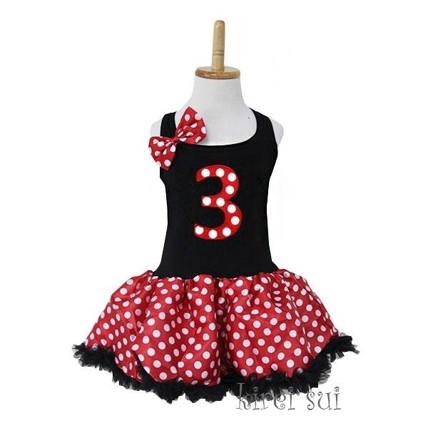 Minnie Mouse jurk 3 jaar (92/98)