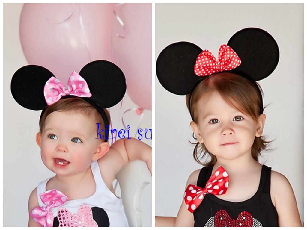Minnie Mouse diadeem rood, Minnie Mouse diadeem roze